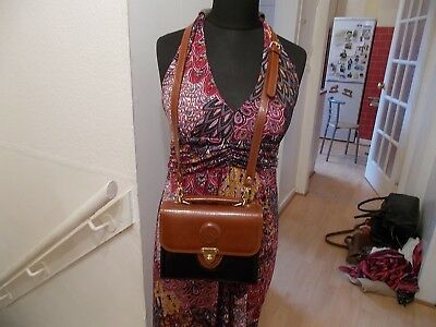 Brown@black Faux Leather Chiltern  Spacious Clasp  Closure Tote/shoulder Bag