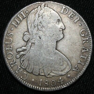 1804 Mexico 8 Reales Coin - 01593