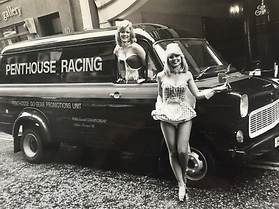 Photograph  Black and White  - Ford Transit Van T175  Penthouse Racing.
