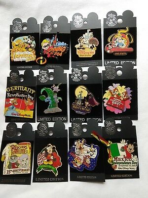 Lot of 12 Limited Edition Disney Pins 2004-2005 Holidays, Anniversaries
