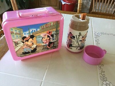 Mickey And Minnie Alladin Lunch Box With Thermos