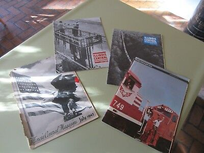 Vintage Lot Of 4 Illinois Central Railroad Magazines