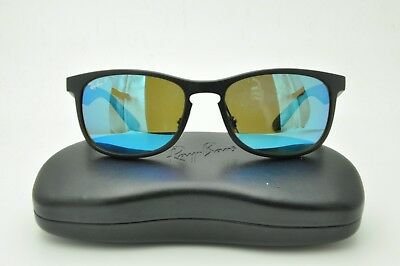 5ceb54c77b Ray Ban Chromance RB 4263 Sunglasses 601-S A1 Matte Black   Blue Flash