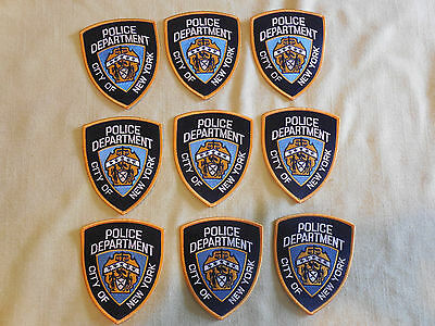 9 City of New York Police Department Patches NYPD