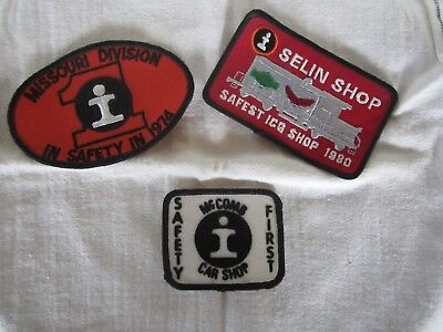 Vintage Lot Of 3 Illinois Central Railroad Patches