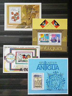 Collection Of Four Different Mini Sheets From Antigua (See Scan)