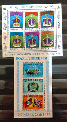 Two Unused Mini Sheets From Barbuda (1977 And 1978)