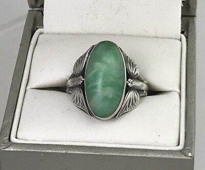 Vintage Beautiful Sterling Art Nouveau Flying Fish Ring