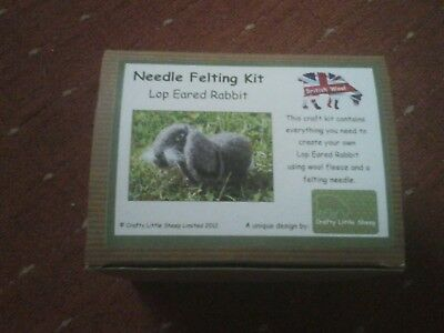 Needle Felting Kit By Crafty Little Sheep -Lop Eared Rabbit