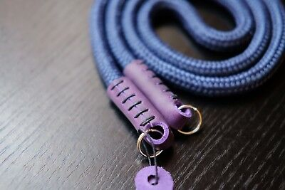 Hand made cord & rope leather camera neck strap 100cm long