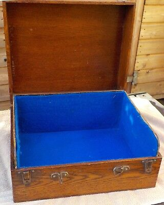 Attractive 1920s empty case that once held a 'Tyrela' portable gramophone