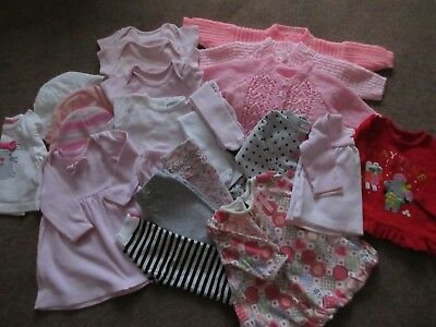 Baby clothes bundle of girls clothes 0 to 3 months