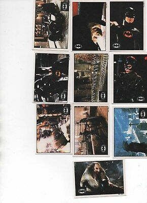 Batman Returns by Topps complete set of 10 insert stickers
