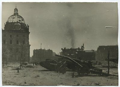 Wwii Large Size Press Photo: Berlin Center View After The Battle, April 1945