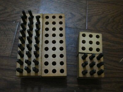"Vintage Young Bros Metal Letter Stamping Set 1/8"", Set of Matching #'s, Unstruck"