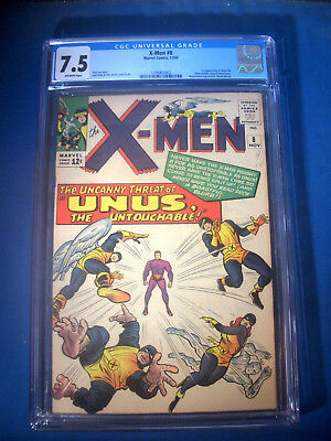 1964 * X-MEN #8 * Marvel Comics CGC 7.5 VF- * Rare Off WHITE Pages * FIRST UNUS
