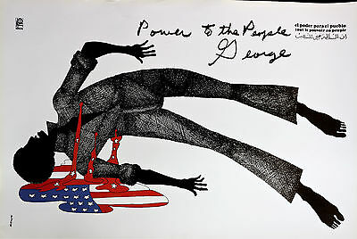 Black Panther George Jackson Power To The People - Cuba Ospaaal Rare -  Original