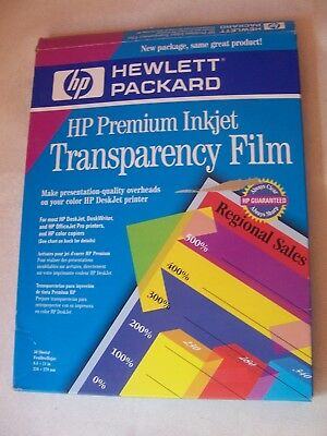 HP Premium Inkjet Transparency Film Open/Used (Only has 24 sheets) missing 26