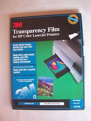 3M Transparency Film for HP Color LaserJet Printers 45 Count  CG3700 - open box