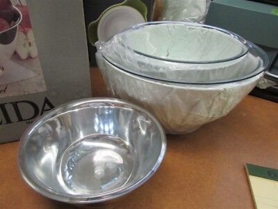 Set of 3 New Oneida Paul Revere Silver Plate Bowls with Liners A-28