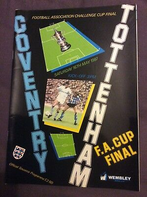 FA Cup Final matchday programme 16 May 1987 Coventry vs Tottenham