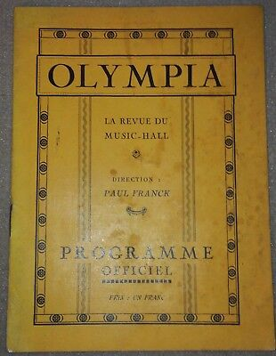 Programme OLYMPIA revue du music-hall 1925?