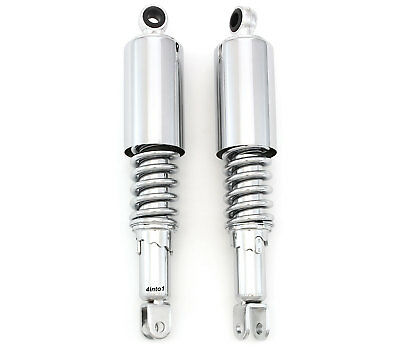 "Chrome Motorcycle Rear Shocks Eye / Clevis 321mm 12 5/8"" Honda CB350/450/500/550"