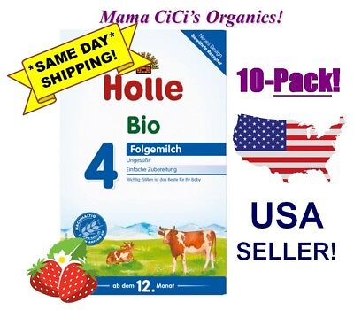 ***FREE EXPEDITED SHIPPING*** 10 BOXES Stage 4 Holle Organic Baby Infant Formula