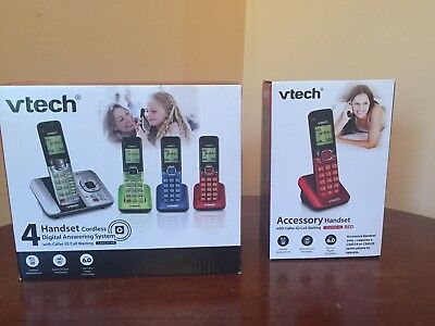 V-Tech Cordless Digital Answering System (4 Handsets) & 1 Accessory Handset