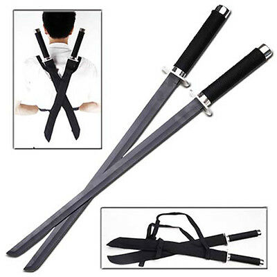 Japanese Ninja Martial Arts Assassin Strike Force Deadly Twin Steel Swords Set