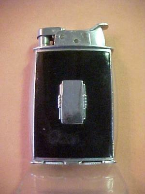 Fancy Shaped Art Deco1930's Tall Trig-A-Lite Evans Lighter – Rare Curved Sides
