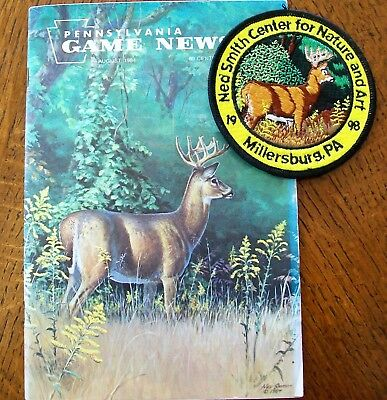 Pa Pennsylvania Game Commission 1998 Patch &  August 1984 Game New By Ned Smith