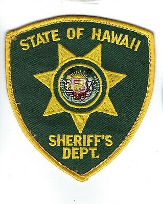 State of Hawaii HI Sheriff's Dept. patch - NEW!