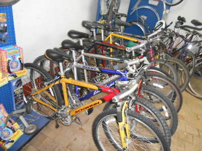 Complete bicycle repair shop, tools, displays, parts new and used, used bikes