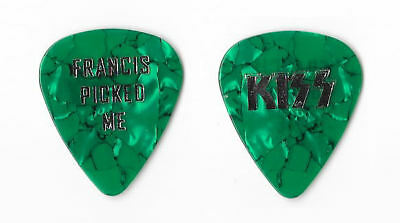 KISS foil on green marble Guitar Pick
