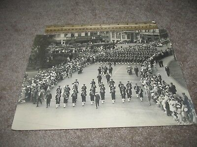 Large 1920s-30s Photograph of The Japanese Army Parading in the Untied States