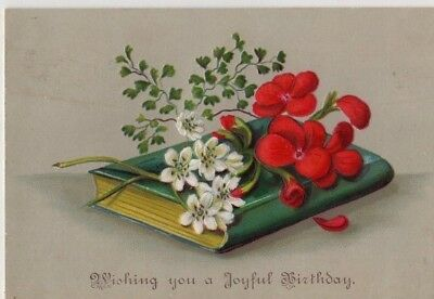 1800's Victorian  Card - Wishing You A Joyful Birthday - Selling Lot Of Cards