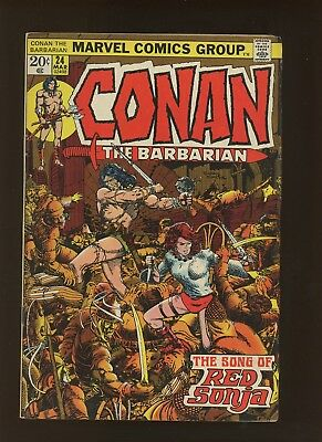 Conan the Barbarian 24 VG/FN 5.0 * 1 Book * 2nd Red Sonja! Barry Windsor-Smith!