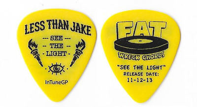 Less Than Jake black on yellow Guitar Pick