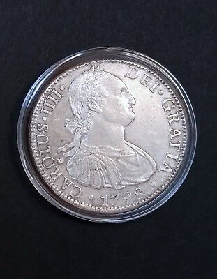 1798 MEXICO Silver 8 Reales Spanish Colonial Era America's First Silver Dollar