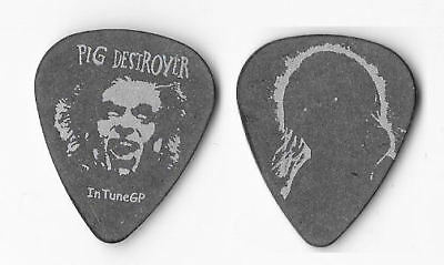 Pig Destroyer silver on black Guitar Pick