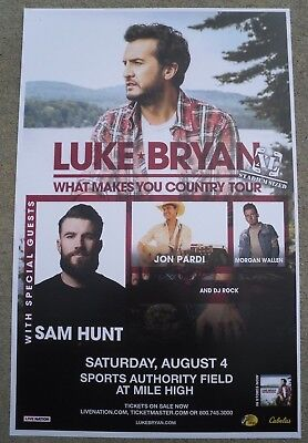 LUKE BRYAN What Makes You Country Tour 2018 Denver Concert 11x17 Promo Poster
