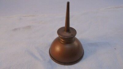 Vintage Miniature Thumb Press Oil Can Copper Color finish