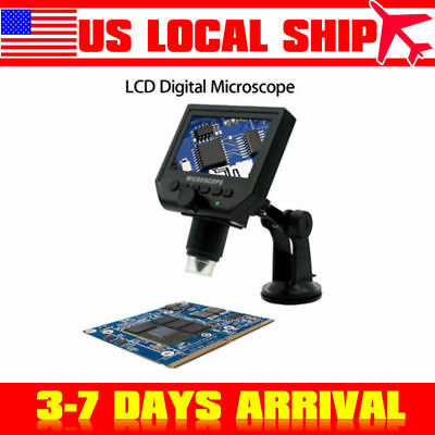 "1-600X Portable 4.3"" USB LCD Digital Microscope LED Light For PCB Soldering"