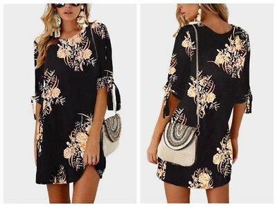 Women Summer Boho Short Mini Maxi Evening Party Beach Dress Floral Sundress