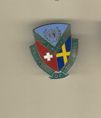 United Nations Joint Security Area Badge   No Hallmark   Clutch Back