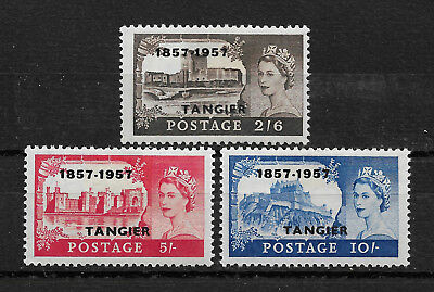 British Morocco Tangier Scott # 609-611 VF OG hinged nice color ! see pic !