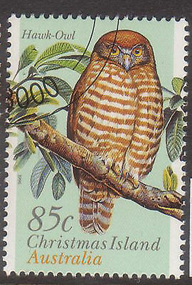 Christmas Island  1996 Hawk-Owl fine used stamp.Bird