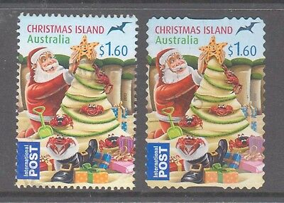 Christmas Island  2012  Christmas lot 2 fine used International post stamps.