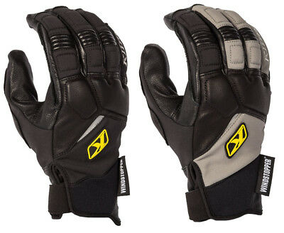 Kilm Mens Inversion Pro Windproof Leather Snowmobile Gloves